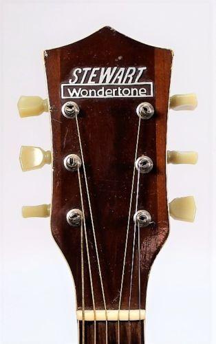 stewart wondertone acoustic guitar lot 275 guitar headstocks i dig acoustic guitar acoustic. Black Bedroom Furniture Sets. Home Design Ideas