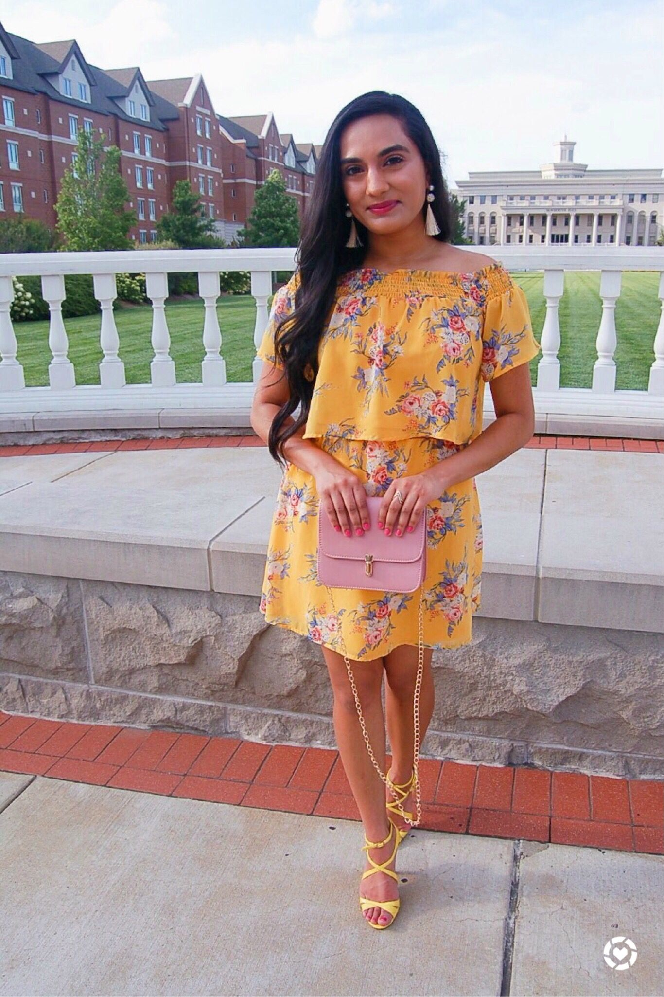 cf9481583c Yellow Floral Two Piece Set • Yellow Floral Top and Skirt • Matching Top  and Skirt