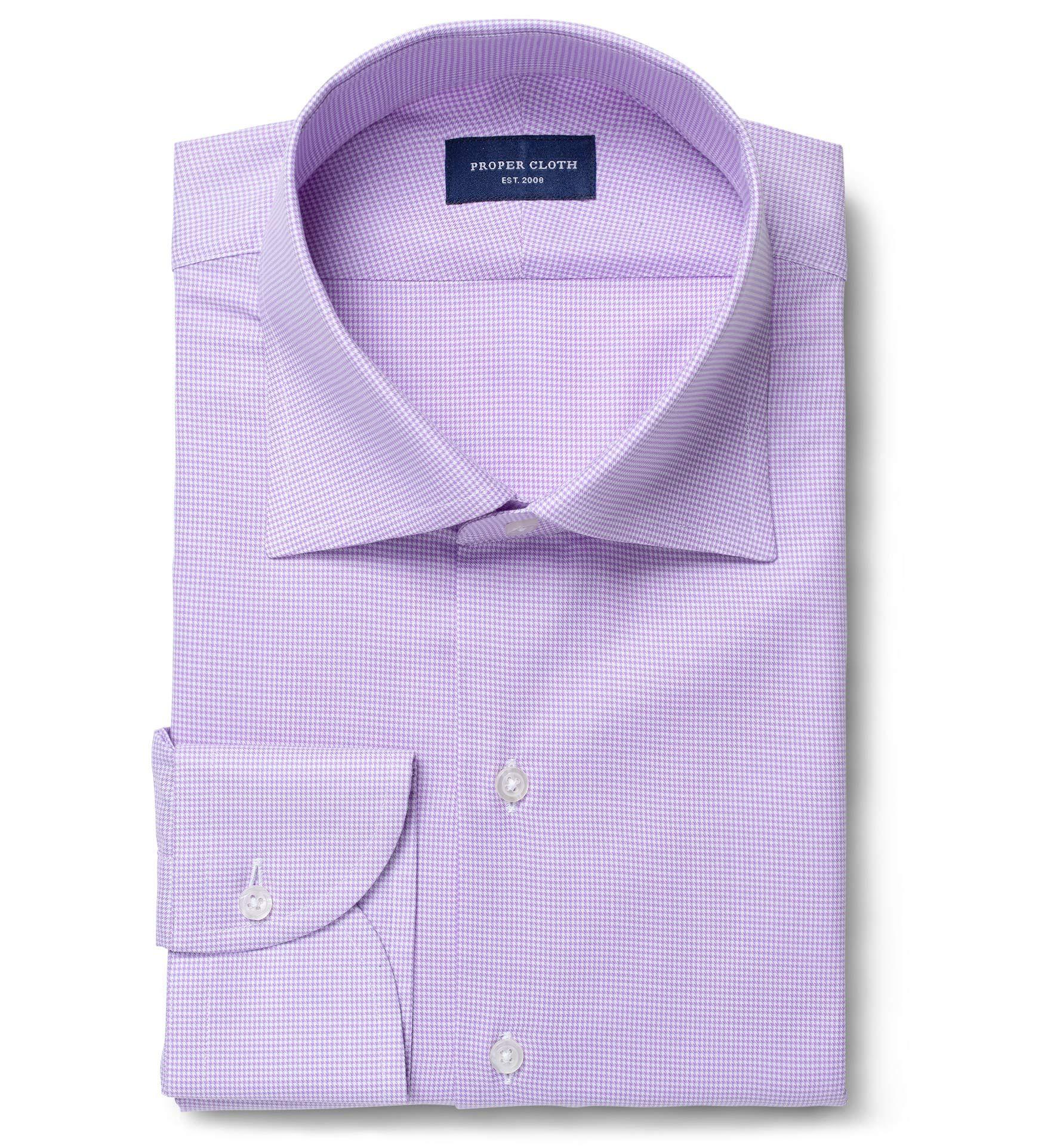 Morris Lavender Wrinkle Resistant Houndstooth Fitted Dress
