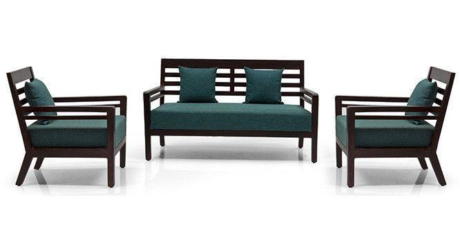 Nelson Wooden Sofa Standard Set 2 1 1 Wooden Sofa Designs Wooden Sofa Set Sofa Design