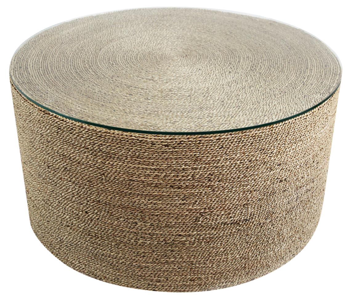Round Seagrass Rope Coffee Table Chairish Coffee Table Glass Coffee Table Coffee Shops Interior [ 979 x 1140 Pixel ]