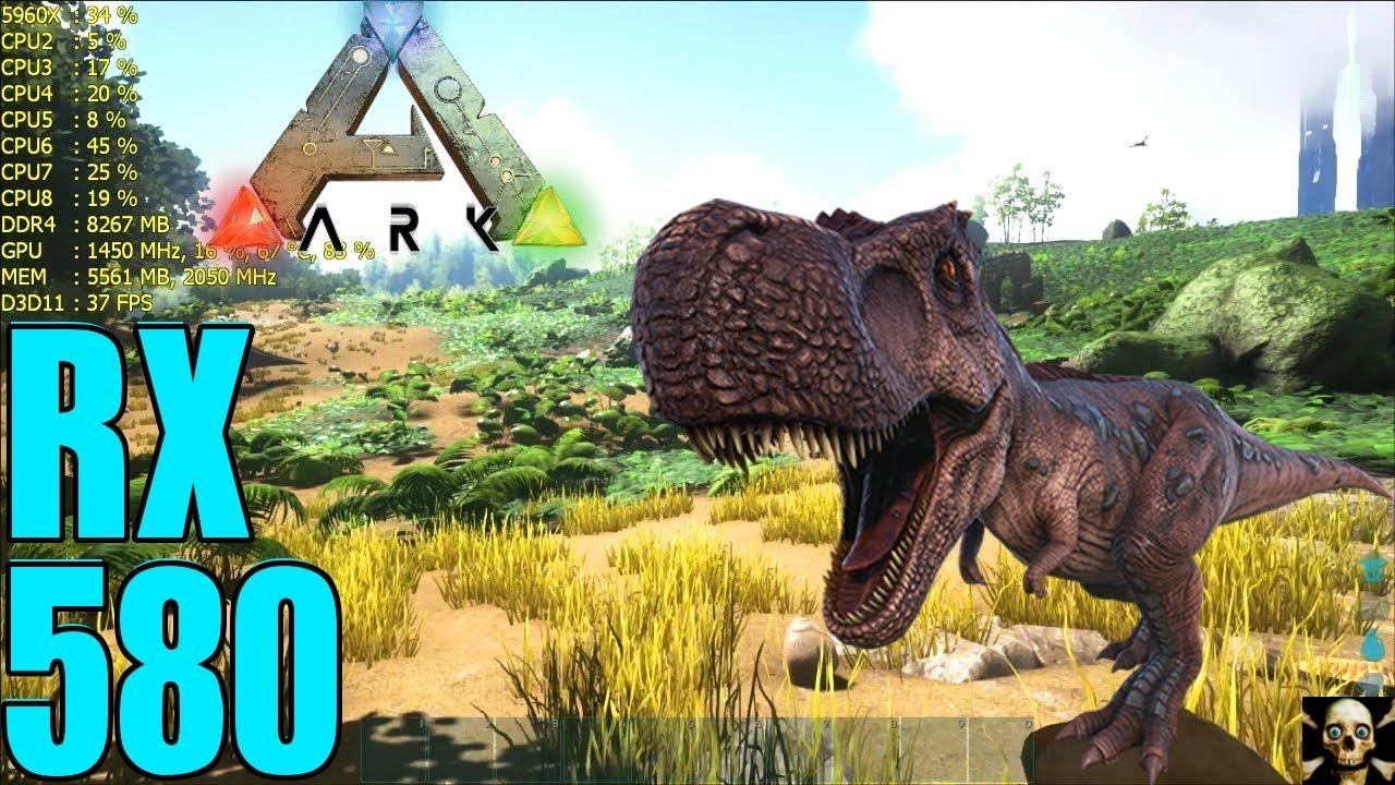 Ark: Survival Evolved RX 580 Frame Performance Gameplay 1440P | AMD
