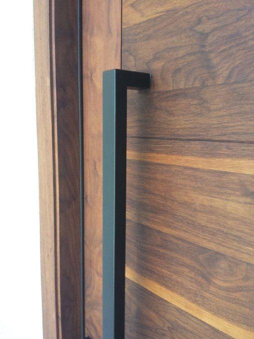 166 Matt Black Modern Stainless Steel Sus304 Entrance Entry Commercial Office Store Front Wood Timber Glass Wood Entry Doors Aluminium Doors Modern Front Door