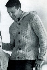 Man's Hooded Cardigan | Free Knitting Patterns | • knitting ...