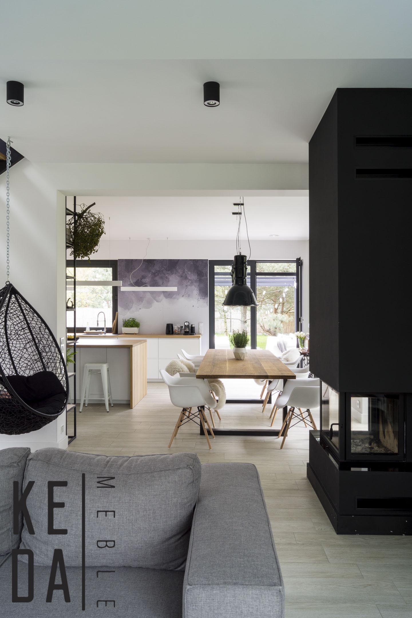 Otwarta Kuchnia Z Jadalnia I Salonem House Interior Home Decor Interior