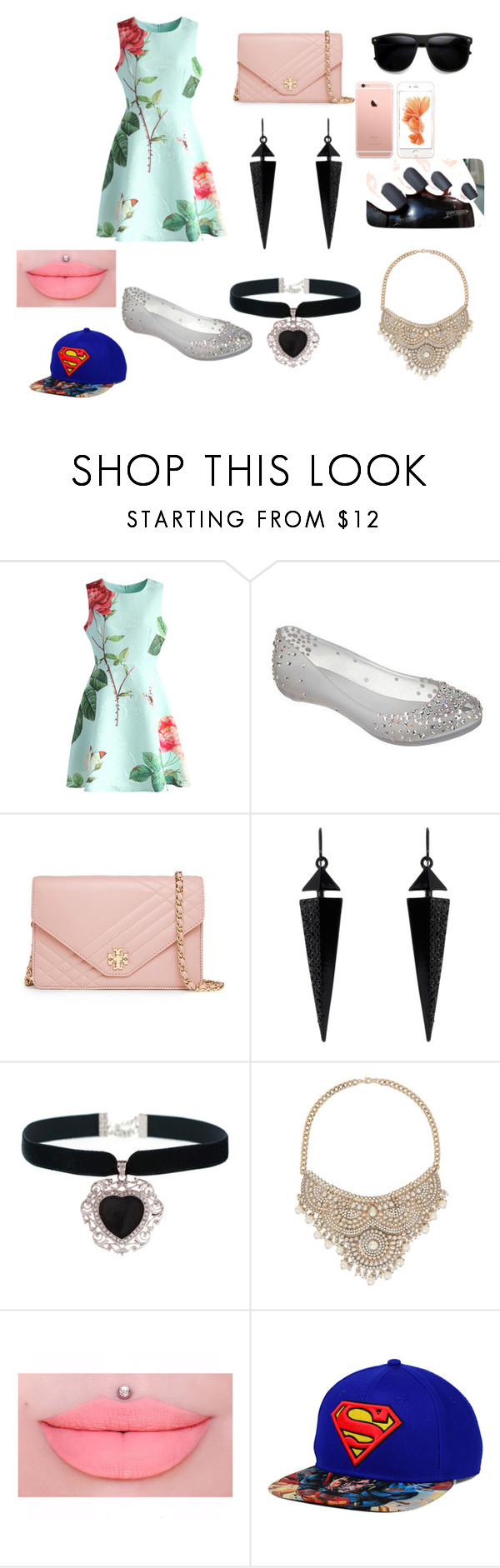 """barborka <3"" by hugyarova-barborka on Polyvore featuring beauty, Chicwish, Melissa, Tory Burch, Oasis, Rock 'N Rose and Bebe"