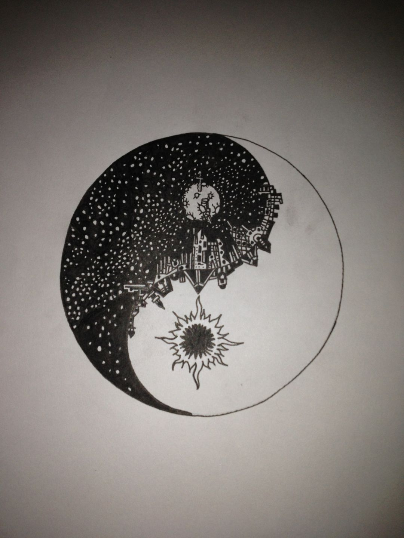 Yin Yang Symbol Art Tattoo Design I Like The Idea Of This But I D