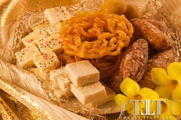 Indian Sweets Trinidad And Tobago....Kurma, Ladoo, Gulab