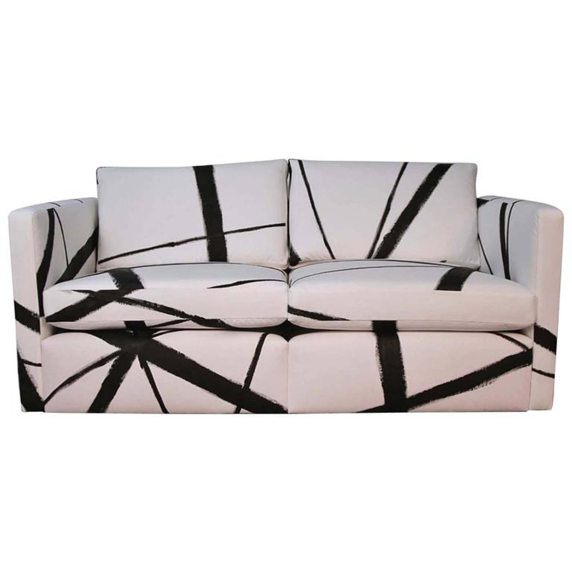 Buy knoll pfister loveseat sofa with custom handpaint by iconic