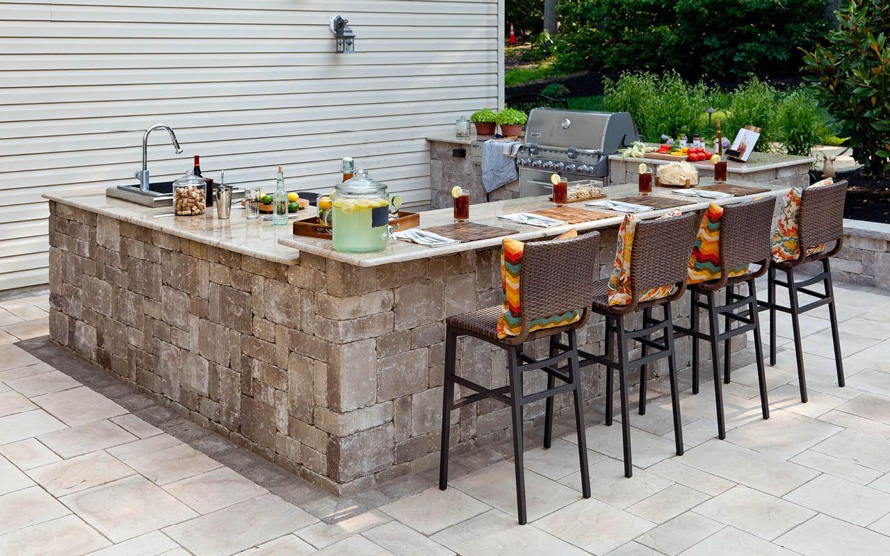 Concrete   Outdoor kitchen patio, Patio kitchen, Outdoor patio bar