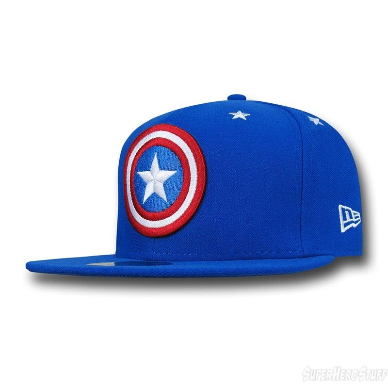 Captain America Symbol Stargazer 59Fifty Hat Marvel New Era Cap Hat Shield 7f7ee124d2f
