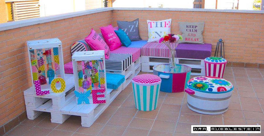 Chill out en el jard n casa pinterest muebles con - Materiales reciclados para decoracion ...