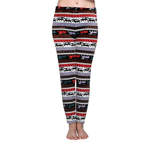 10b5467f7076a Christmas Fleece Lined Leggings Pants Snowflake Reindeer Printed Seamless Plus  Size XL     Continue to the product at the image link.