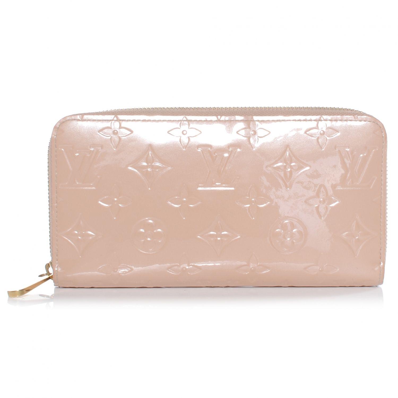 5ce7573ccdb29 Louis Vuitton Vernis Zippy Wallet Coin Purse Beige LV
