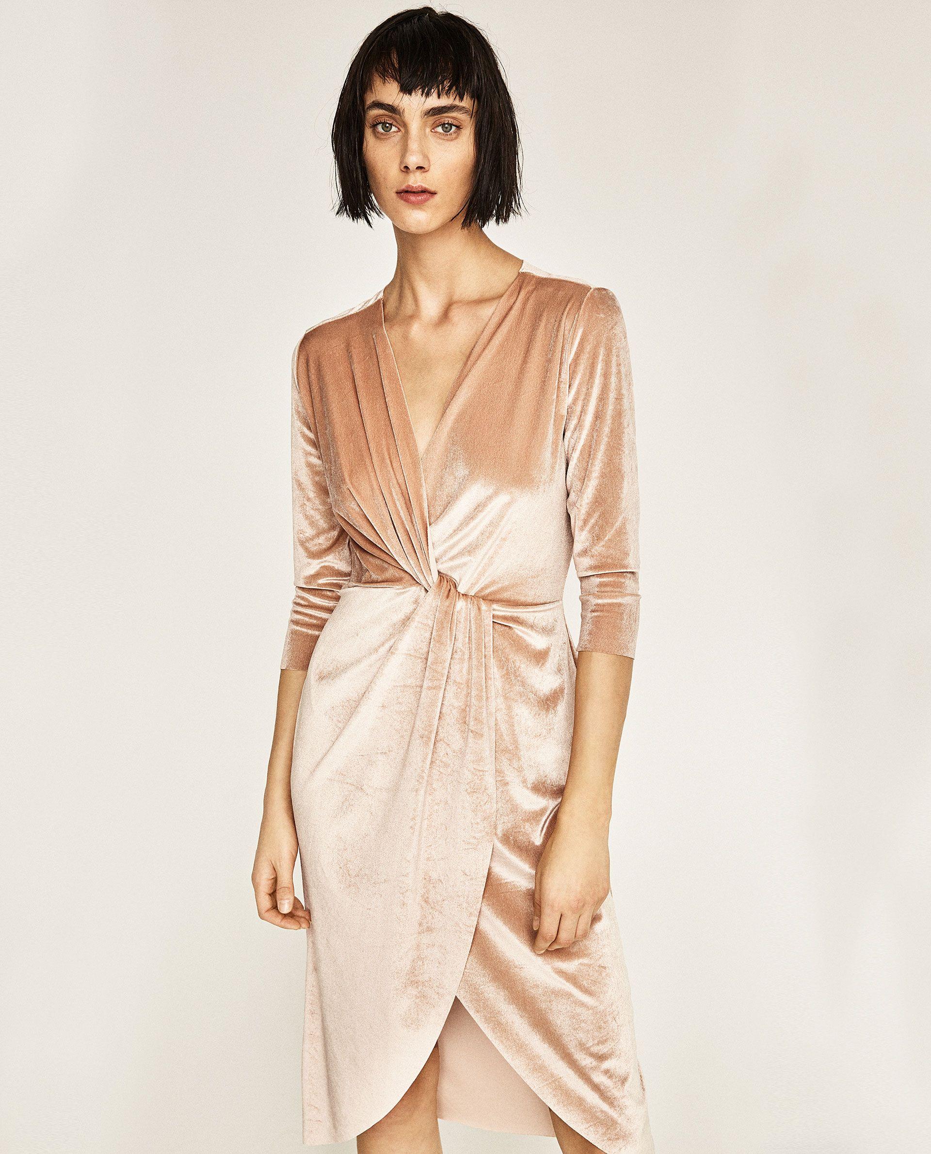 Vestido Veludo Cruzado Modestil Kleider Kleid Winter