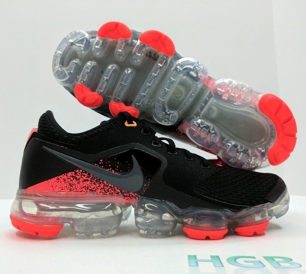 428ec06b302 eBay  Sponsored Nike Air Vapormax GS Youth Black Dark Grey Red Running Run  917963-009 NIB