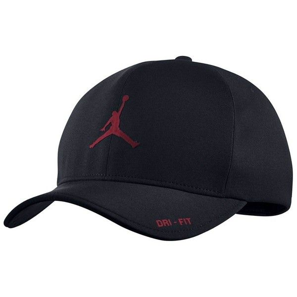 758f1913aa4 Nike Mens Air Jordan Classic 99 Fitted dad Hat ❤ liked on Polyvore  featuring men s fashion