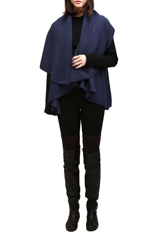 Look by M Women's Draped Basic Shawl Vest