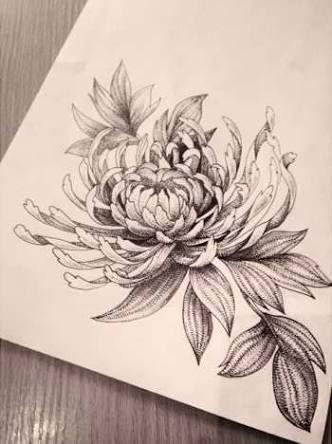 Image Result For Chrysanthemum Tattoo Black And White Chrysanthemum Tattoo Birth Flower Tattoos Crysanthemum Tattoo