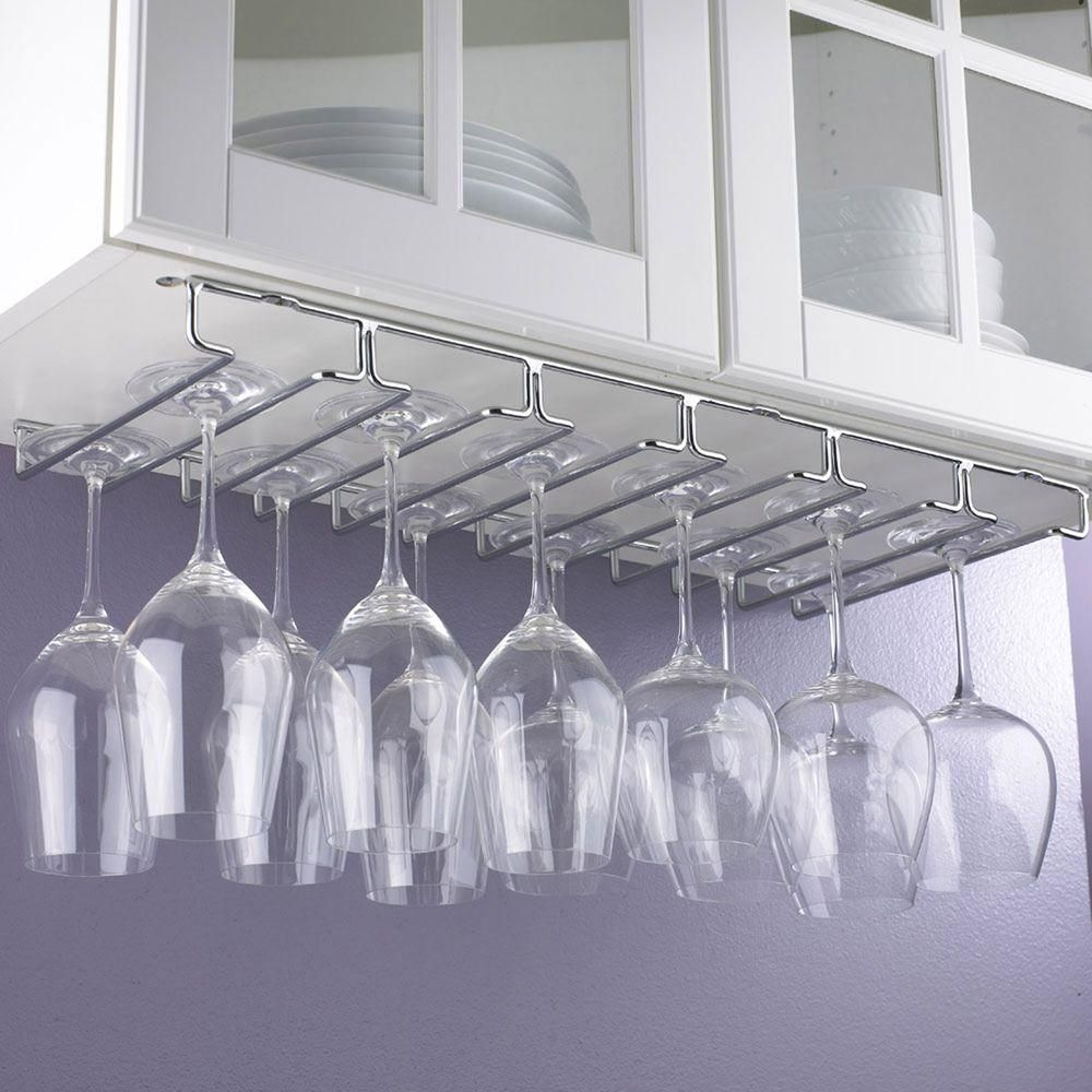 Wine Enthusiast Chrome Hanging Wine Glass Rack 632 16 97 Hanging