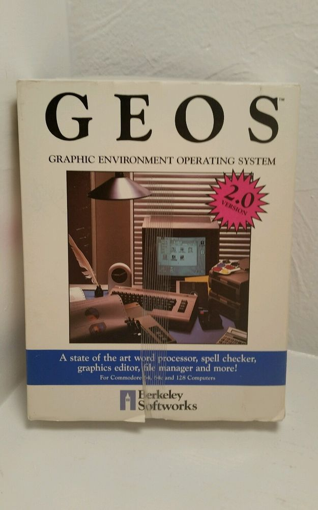 GEOS v 2 0 by BERKELEY SOFTWORKS for COMMODORE C64 / 128 + COMPLETE