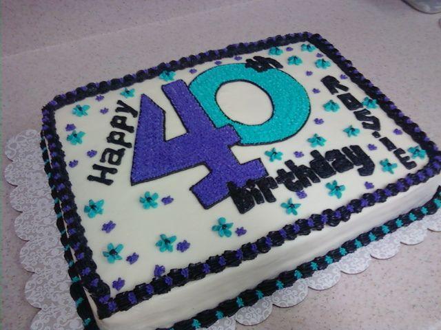 40th birthday cake 40 birthday cakes 40 birthday and Birthday cakes