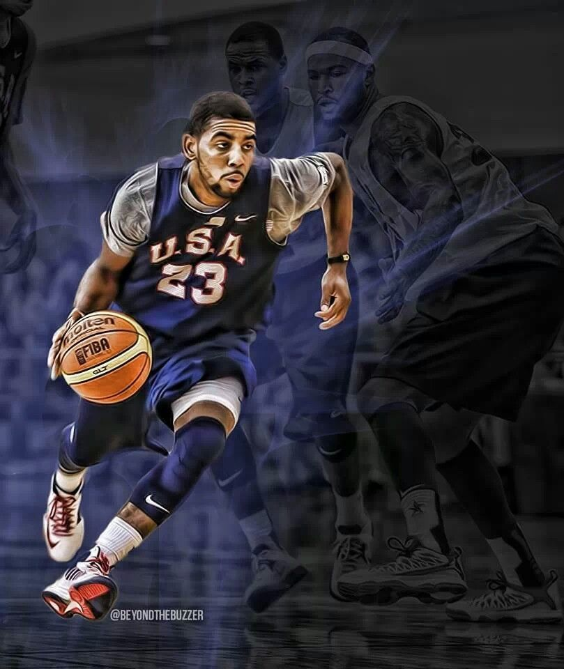 Kyrie Irving Wallpaper: Kyrie Irving Team USA. He Is Wearing The Right Number Too