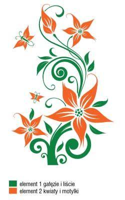 Naklejka Flora 232 Kwiaty Kompozycja Dwukolorowa Szabloneria Pl Szablony Malarskie I Naklejki Na Scian Flower Drawing Design Flower Art Flower Drawing