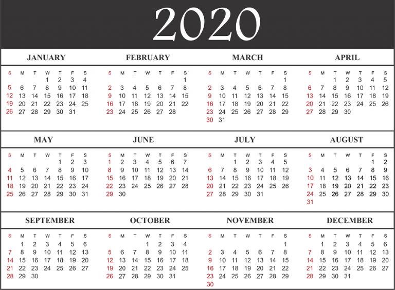 Free Printable Calendar 2020 Free printable calendar