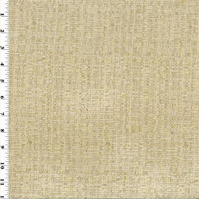 Ameritex Sesame Beige Plush Chenille Home Decorating Fabric Fabric ...