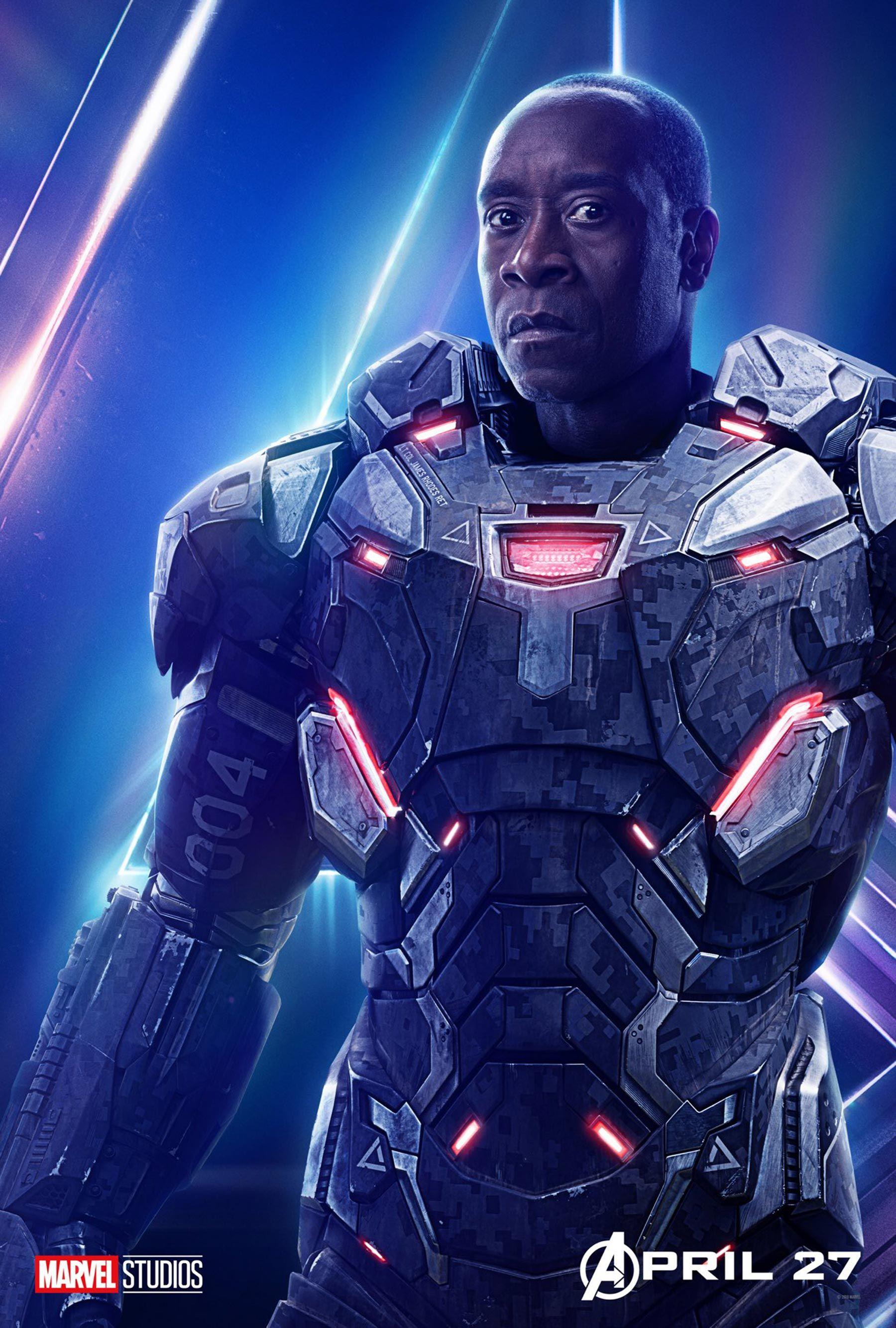 Avengers Infinity War Character Posters War Machine