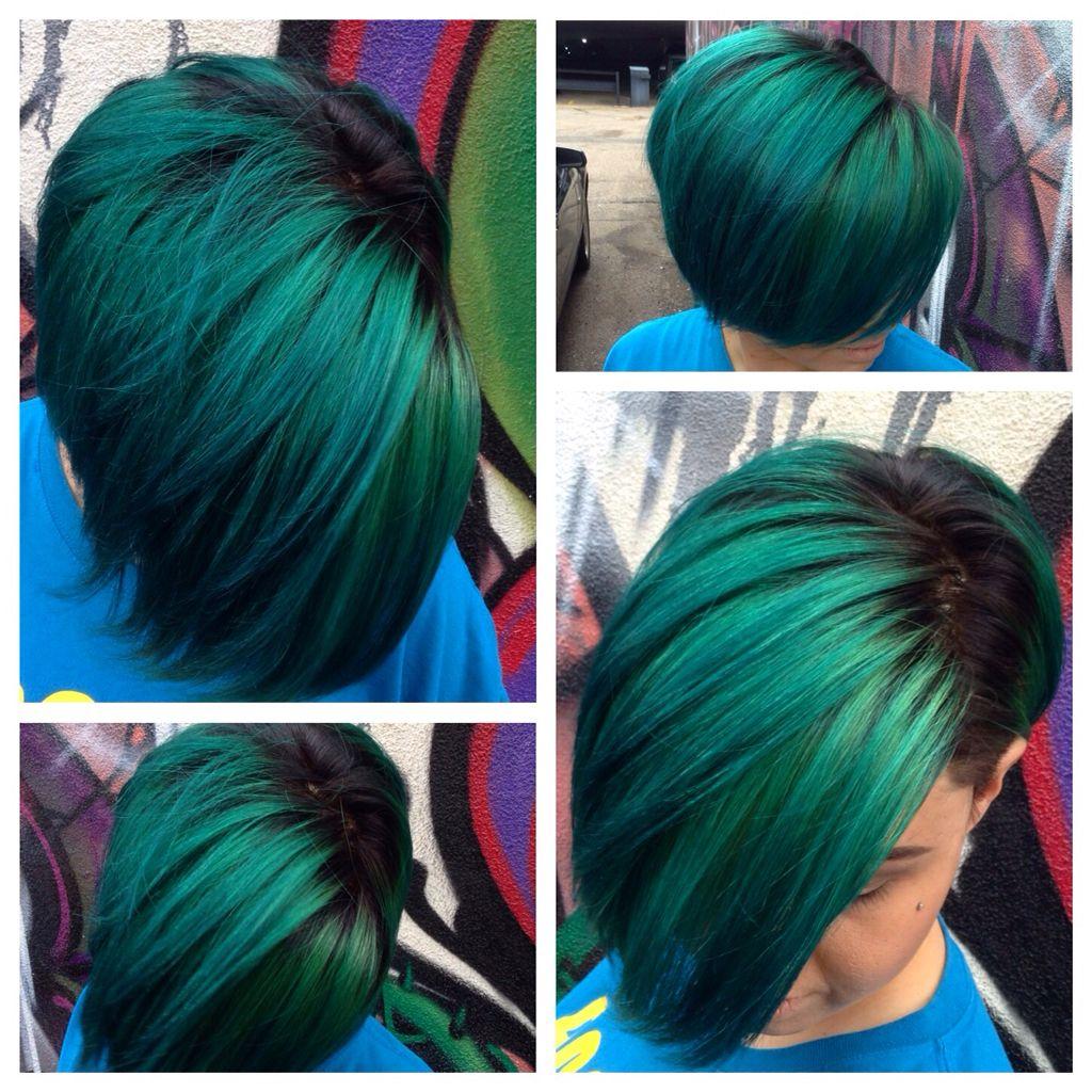 Love joico peacock green samihairmagic colour me pinterest