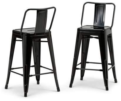 Wondrous Simpli Home Rayne 24 Inch Metal Counter Height Stool Set Of Uwap Interior Chair Design Uwaporg