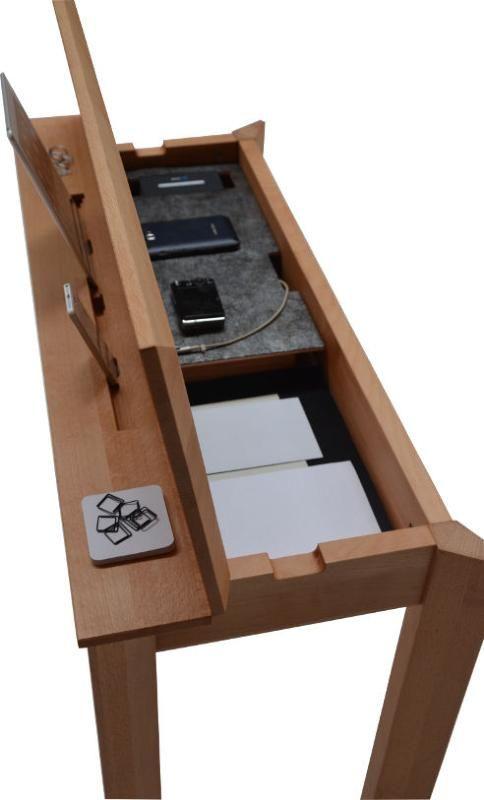 console, console connectée, meuble petite profondeur, meuble d