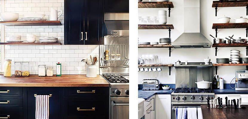 Baldas de madera: un toque rústico en tu cocina - http://www.decoora.com/baldas-de-madera-un-toque-rustico-en-tu-cocina.html