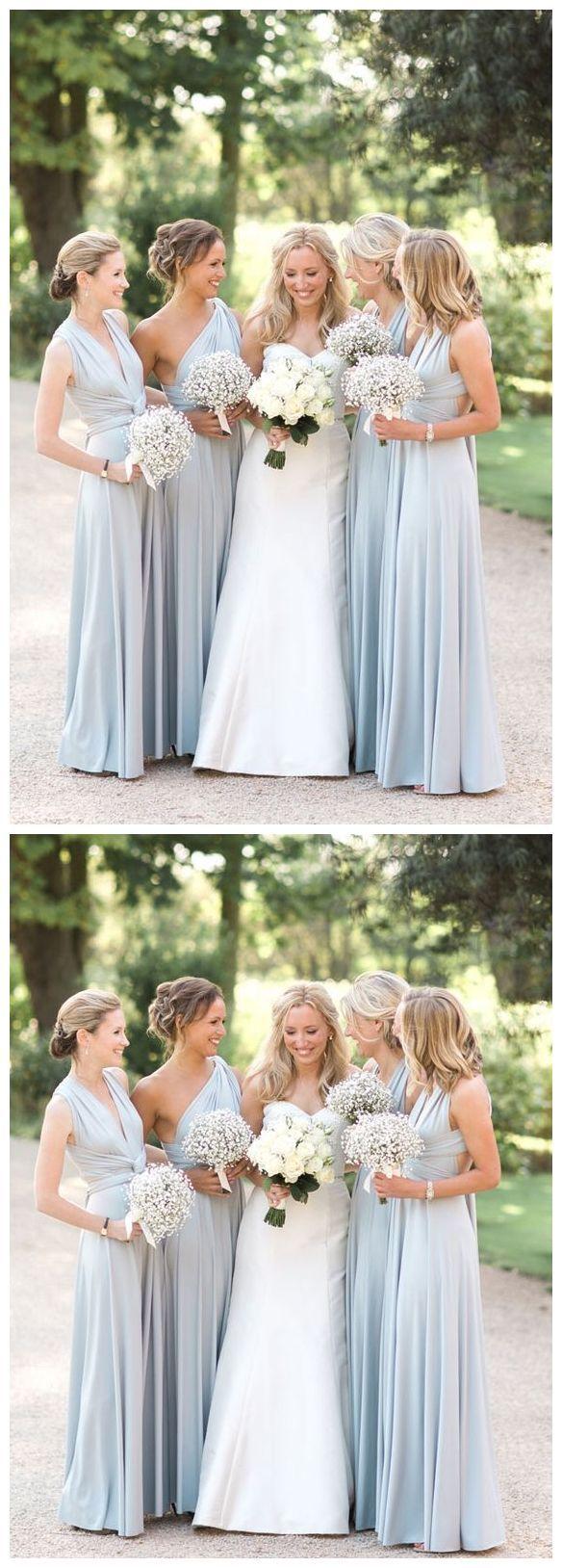 Light blue bridesmaid dresses one shoulder bridesmaid dresses