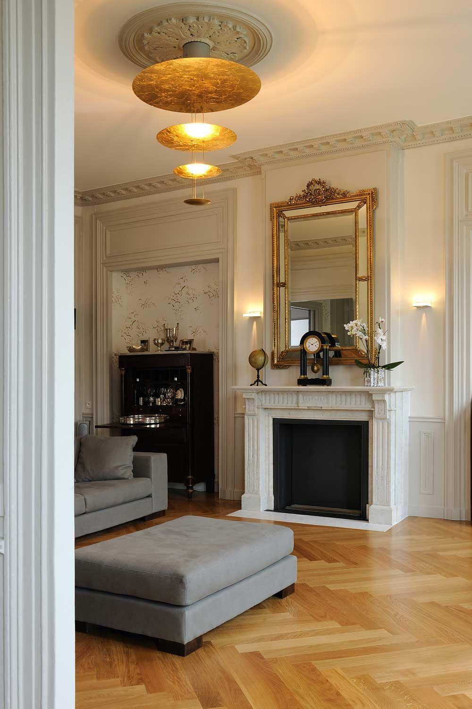 Appartement haussmannien Lyon architecte dintrieur  Escalier Dcoration Classique  Chic en