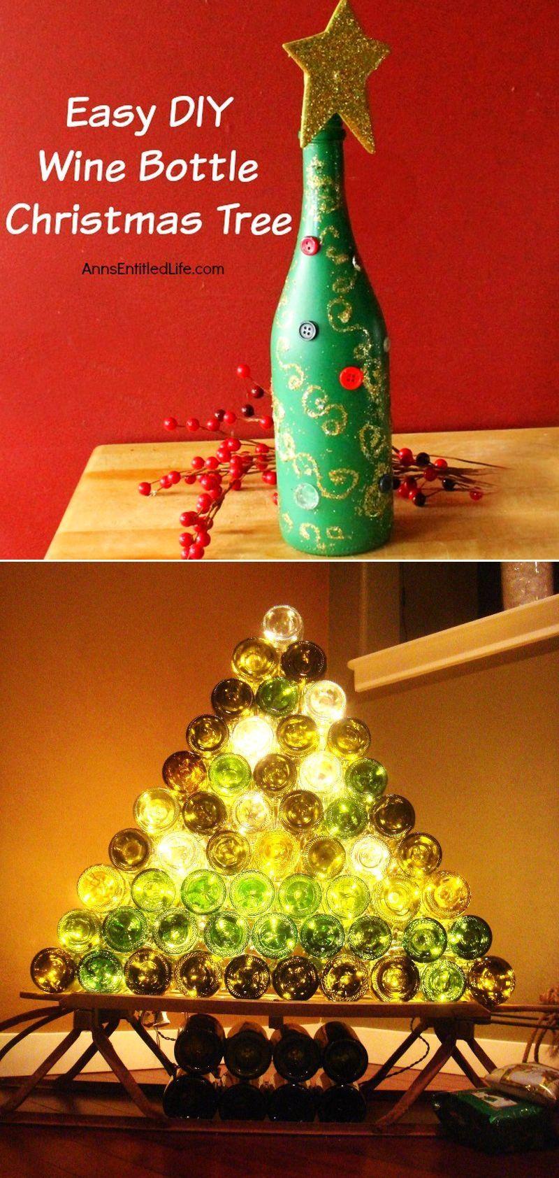 Wine Bottle Christmas Tree Diy.Diy Wine Bottle Crafts 40 Wine Bottle Decoration Ideas