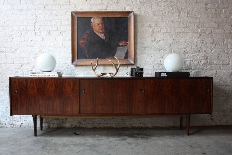 Furniture Retro Credenza Decor With White Wall Brick Unique Credenza Small Credenza Mid Century Modern Credenza Contemporary Sideboard Credenza Decor