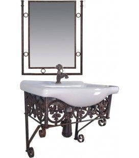 Set Spiegel Und Klassische Badmobel Suspendiert Fleur De Lis Design
