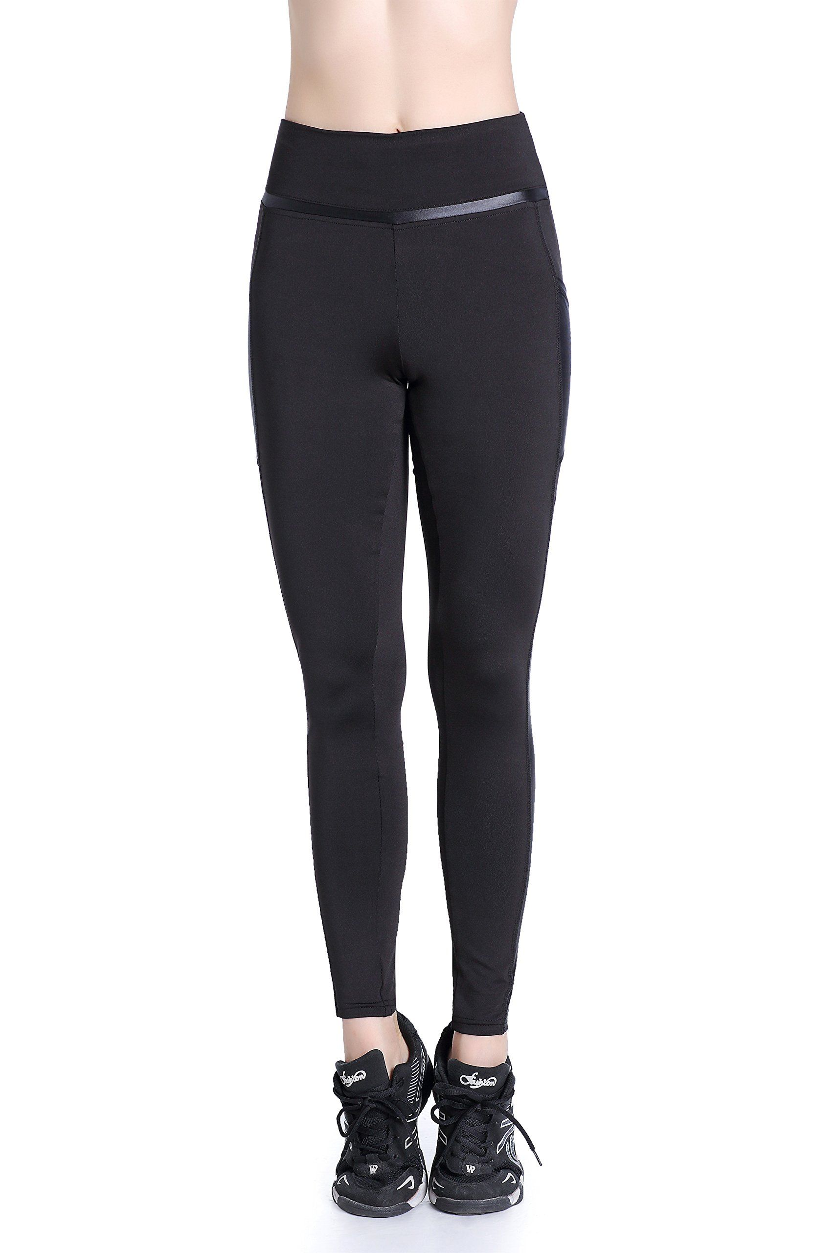 713ffc464b3ff EAST HONG Womens Yoga Leggings Exercise Workout Pants Gym Tights XL Black.  ** Learn more by visiting the image link-affiliate link. #treadmills