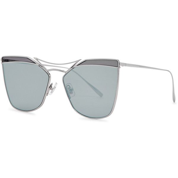 cc9475b76503 Gentle Monster Off Pink titanium cat-eye sunglasses ( 290) ❤ liked on  Polyvore featuring accessories