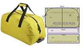 La ilustración de la plantilla de bolsa de viaje no tiene valor de costura debe…