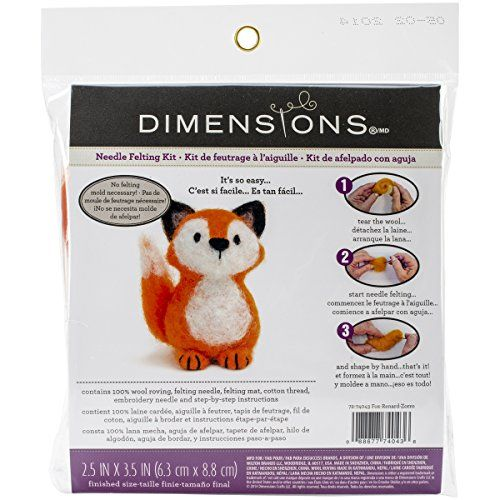 Dimensions Crafts 72 74043 Fox Needle Felting Kit Dimensions Crafts Http Www Amazon Com Dp B00k Needle Felting Kits Needle Felted Fox Needle Felting Supplies