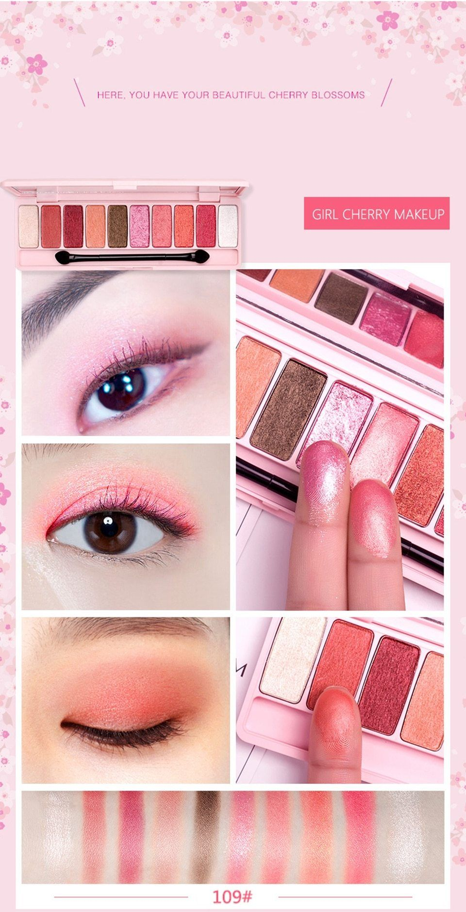 cosmetics Eye shadow (With images) Eye makeup, Korean