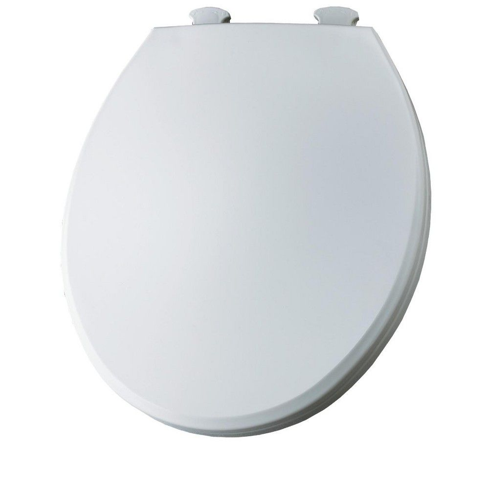 Bemis 800ec Round Plastic Toilet Seat With Easy Clean Change