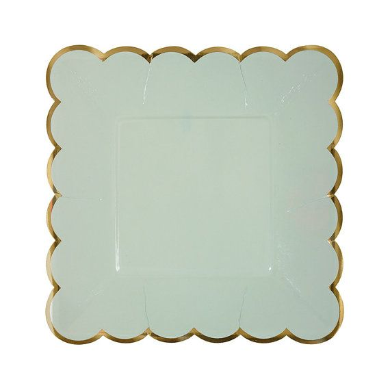 These paper plates come in mint green pastel PEACHY-pink light blue and soft yellow and they feature a gold foil scalloped edge. The details --\u2026  sc 1 st  Pinterest & These paper plates come in mint green pastel PEACHY-pink light ...