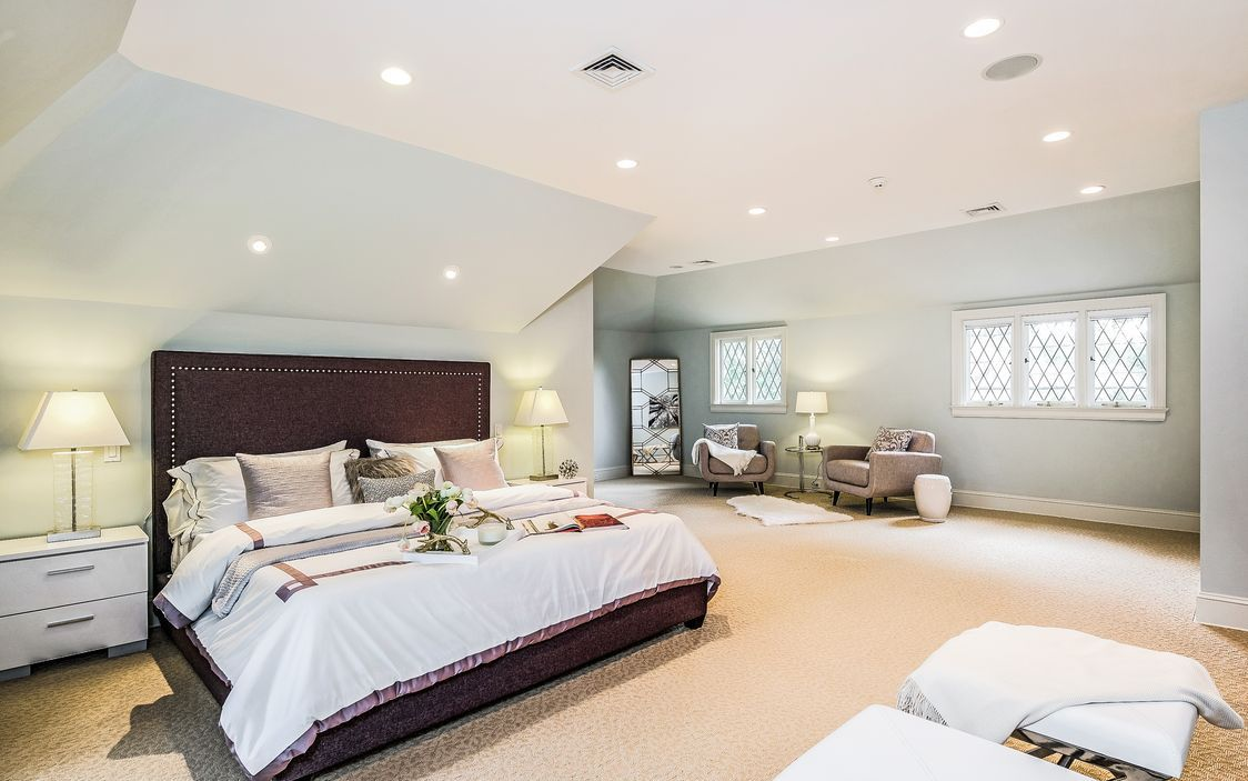 Best 2Nd Floor Master Suite With Light Filled Bedroom With Tray 400 x 300