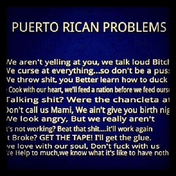 true !! #haha #puertorican #problems #problemas ...