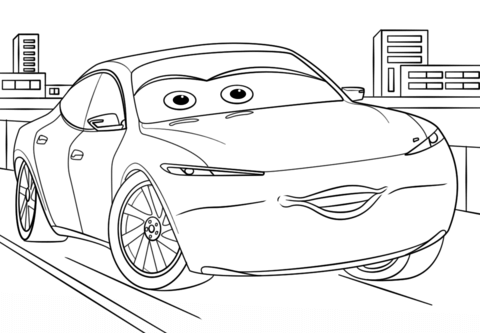 Natalie Certain From Cars 3 Coloring Page From Disney Cars Category Select From 25655 Printable Crafts Disney Coloring Pages Cars Coloring Pages Disney Colors